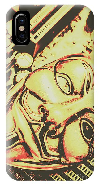 Protest iPhone Case - Golden Cyber Rebellion by Jorgo Photography - Wall Art Gallery