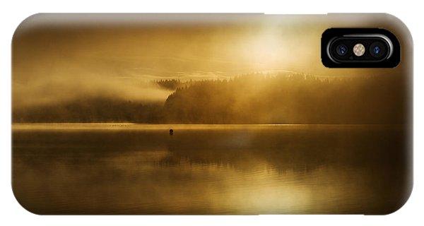 Loch Ard iPhone Case - Golden Dawn Loch Ard by Janet Burdon