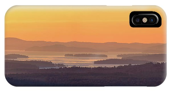 Golden Dawn Over Squam And Winnipesaukee IPhone Case