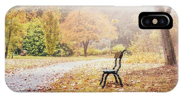 Park Bench iPhone Case - Golden Days by Evelina Kremsdorf