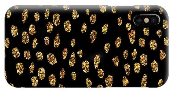Golden Dots IPhone Case
