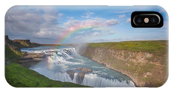 Golden Falls, Gullfoss Iceland IPhone Case