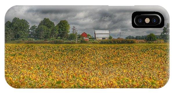 0012 - Golden Fields Farm IPhone Case