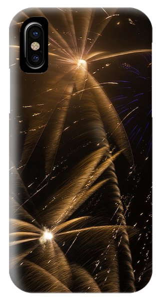 Golden Fireworks IPhone Case