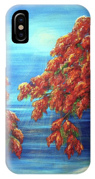 Golden Flame Tree IPhone Case