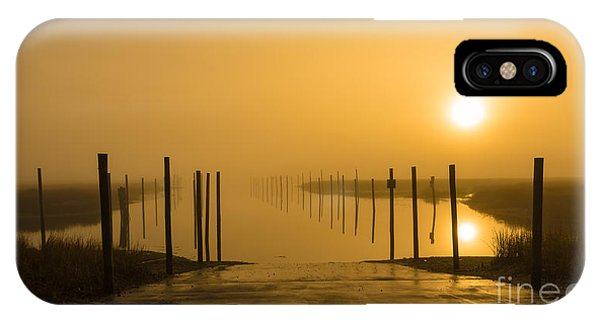 Golden Fog On The Nissequogue IPhone Case