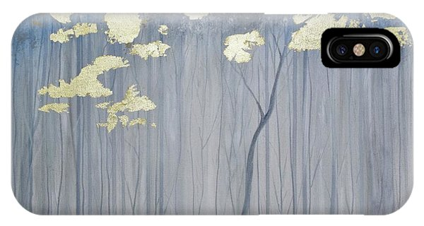 IPhone Case featuring the painting Golden Forest by Mary Scott
