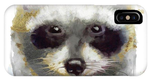 Golden Forest Raccoon  IPhone Case