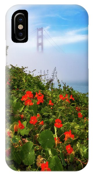 IPhone Case featuring the photograph Golden Gate Blooms by Darren White