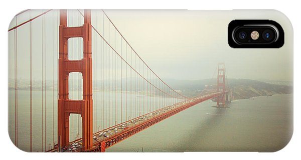 Road iPhone Case - Golden Gate Bridge by Ana V Ramirez