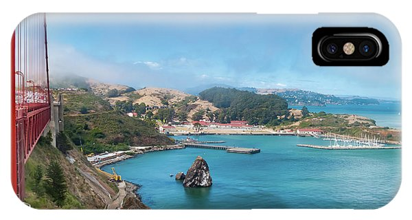 iPhone Case - Golden Gate Bridge And Ft Baker by Bill Gallagher