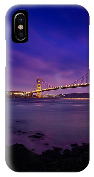Golden Gate Bridge At Night IPhone Case
