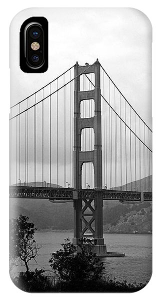 San Francisco iPhone Case - Golden Gate Bridge- Black And White Photography By Linda Woods by Linda Woods