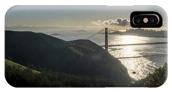 Golden Gate Bridge From The Road Up The Mountain IPhone Case