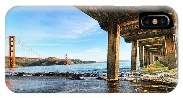 Golden Gate Bridge From Under Fort Point Pier IPhone Case