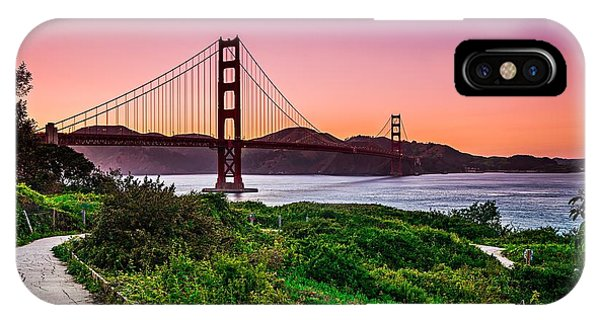 Golden Gate Bridge San Francisco California At Sunset IPhone Case