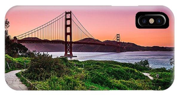Golden Gate Bridge San Francisco California At Sunset IPhone Case
