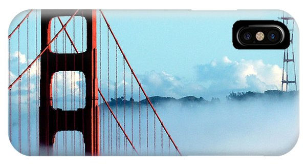 Golden Gate Bridge Tower Fog Antenna IPhone Case