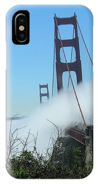 Golden Gate Bridge Towers In The Fog IPhone Case