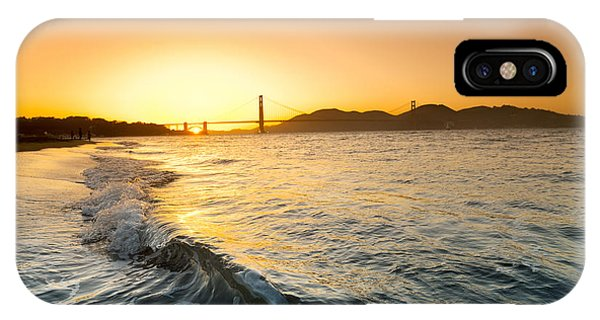 Houses iPhone Case - Golden Gate Curl by Sean Davey