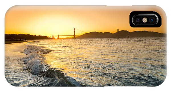 House iPhone Case - Golden Gate Curl by Sean Davey
