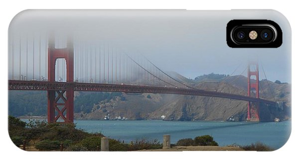Golden Gate In The Clouds IPhone Case