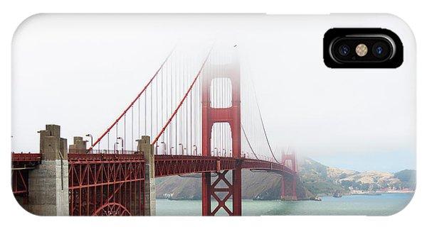 Golden Gate In The Fog IPhone Case