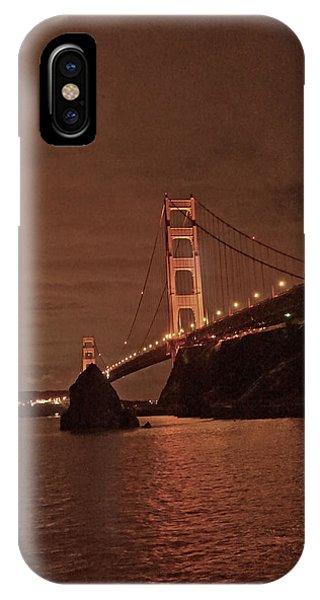 iPhone Case - Golden Gate Night  by April Bielefeldt