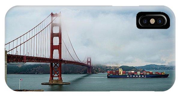 Golden Gate Ship IPhone Case