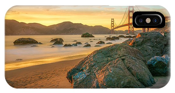Golden iPhone Case - Golden Gate Sunset by James Udall
