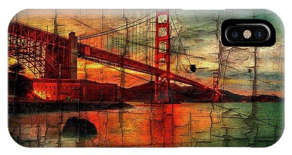 Bay Bridge iPhone Case - Golden Gate Weathered by Az Jackson