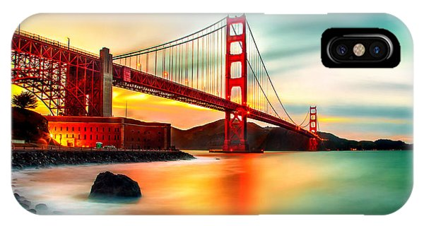 Golden Gateway IPhone Case