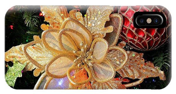 Golden Glitter Christmas Ornaments IPhone Case
