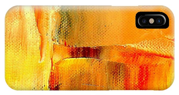 Golden Glow Abstract Square IPhone Case