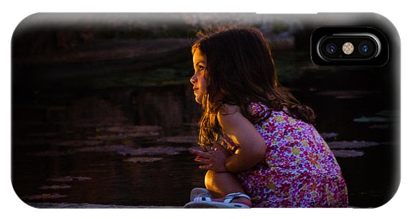 Golden Glow Girl IPhone Case