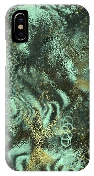 iPhone X Case - Golden Green by Orphelia Aristal