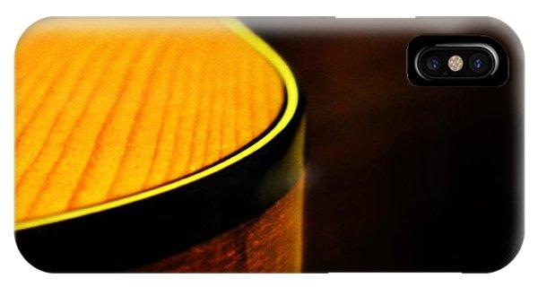 Golden Guitar Curve IPhone Case