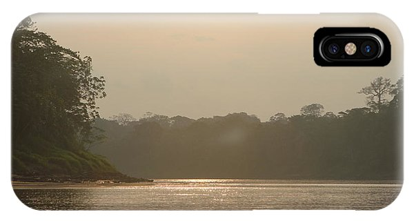 Golden Haze Covering The Amazon River IPhone Case