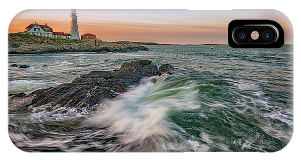 Golden Hour At Portland Head Light IPhone Case