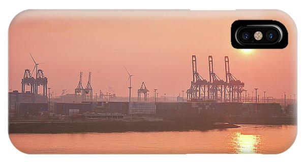 Golden Hour On The Elbe IPhone Case
