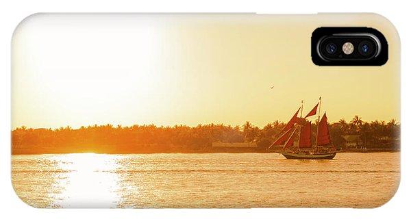Golden Hour Sailing Ship IPhone Case