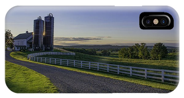 Golden Hour Silos IPhone Case