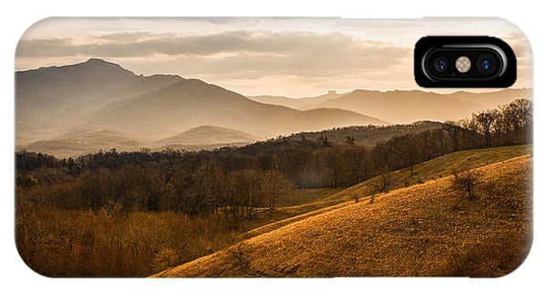 Grandfather Mountain Sunset - Moses Cone Blue Ridge Parkway IPhone Case