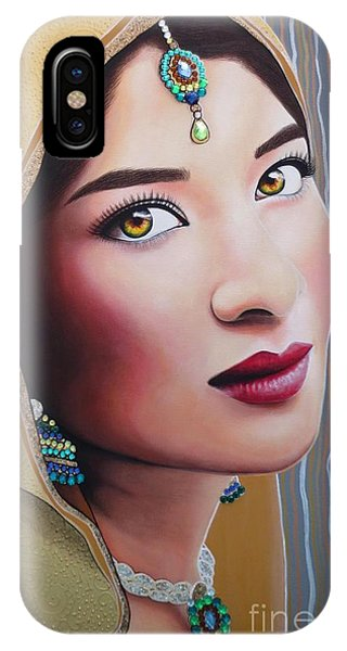 Golden Indian Bride IPhone Case