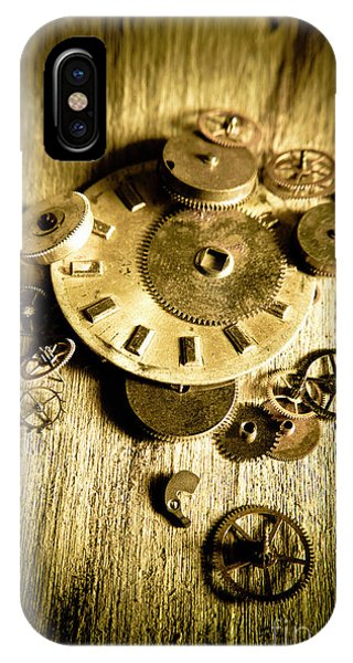 Factory iPhone Case - Golden Industry Gears  by Jorgo Photography - Wall Art Gallery