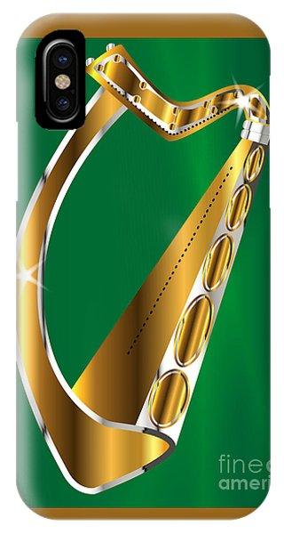Harp iPhone Case - Golden Irish Harp by Bigalbaloo Stock