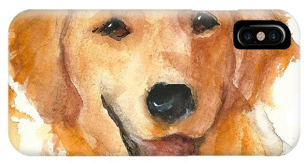 Golden Retriever Watercolor Painting By Kmcelwaine IPhone Case