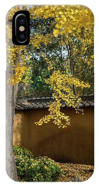 Golden Gardens iPhone Case - Golden Leaves by Jamie Pham