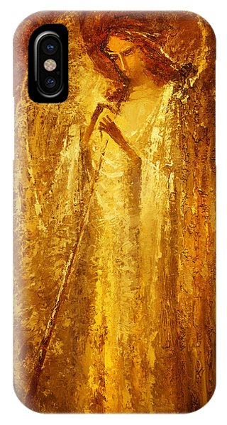 Golden Light Of Angel IPhone Case
