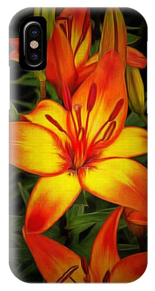 Golden Lilies IPhone Case
